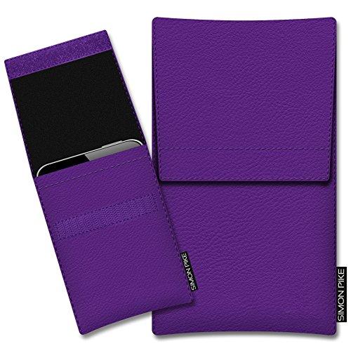 SIMON PIKE Kazam Thunder 340W Kunstleder Tasche Sidney 01 in lila Kunstleder, maßgefertigt