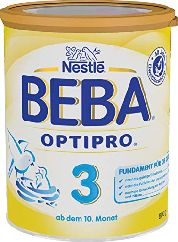 Nestlé BEBA OPTIPRO 3 Folgemilch ab dem 10. Monat, Pulver, im Anschluss an das Stillen, bei angemessener Beikost, 1er Pack (1 x 800g)