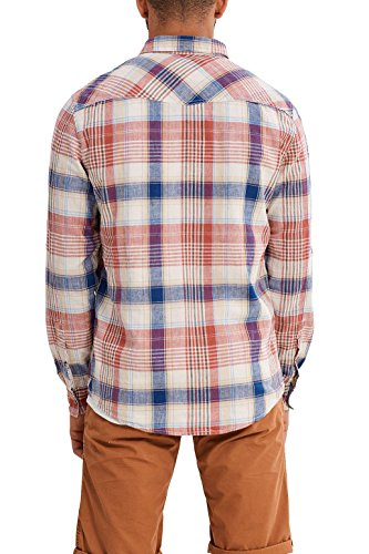 edc by ESPRIT Herren Freizeit Hemd 047cc2f005 Orange (Red Orange 825)