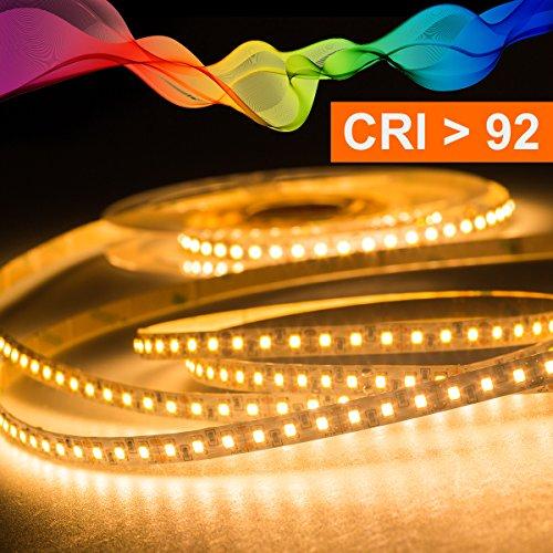 Mextronic LED Streifen LED Band LED Strip 2835 Warmweiß (2700K) CRI 92 36W 5 Meter 24V IP20