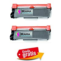 Bramacartuchos - 2 X Tóner compatible con Brother Tn2320 Alta Capacidad DCP L2500D, DCP L2500, DCP L2520, DCP L2540DN, DCP L2540, HL L2300, HL L2340, HL L2340DW, HL L2360, HL L2365, MFC L2700DW, MFC L2700, MFC L2720, MFC L2740, Dos Negros