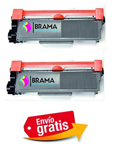 Bramacartuchos - Cartuccia per toner, compatibile con Brother Tn2320, alta capacità, per Brother DCP-L2520DW, HL-L2300D, HL-L2340DW, HL-L2360DN, HL-L2365DW, MFC-L2700DW, MFC-L2720DW, MFC-L2740DW, 2 pezzi, colore nero