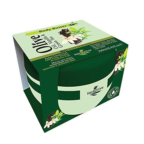 Herbolive Burro per il corpo con vaniglia e tè verde 1er Pack