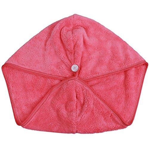 Buweiser Super absorbierende Korallen Samt trockenen Hut schnell - trockener Kopf von Bad Haar Schal (lila) (red) (Trockener Kopf)