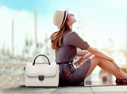 Tisdain Femminile Borsa a mano Portafoglio PU qualità Borse in pelle goffrata Borsa da donna big bag Borsa messenger bianco
