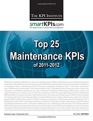 Top 25 Maintenance KPIs of 2011-2012