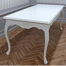 mesa barroca en madera rectangular de estilo antiguo NkTa0690Hz Louis XV