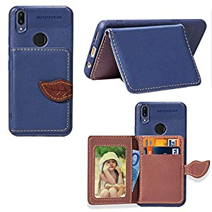 Vivo X21 Case, Vivo X21 Cover Thin Flip Cover Case Durable Protects Phone Case for Vivo X21 by Instanttool (Dark Blue)