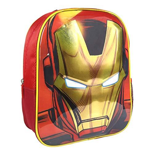 Artesania Cerda Mochila Infantil 3D Avengers Iron Man Kinder-Rucksack, 31 cm, Grün (Verde)