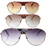 Miss Sixty Designer Sonnenbrille, Silber mit grauen Gläsern für Damen Pilotenbrille Aviator tropfenform