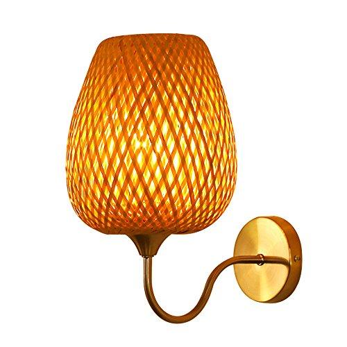 Z&MDH Vogelkäfig Bambus Beleuchtung, Wohnzimmer Gang Schlafzimmer Bettdecke dekorative Wandleuchte, Durchmesser 35cm, hoch 30cm (ohne Glühbirne)