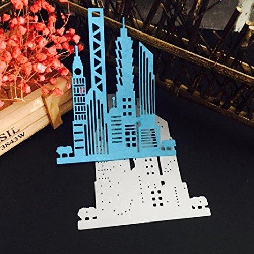 chablone, SHOBDW Christmas Halloween Papier Dekor schneiden dies Stencil Scrapbooking DIY Handwerk (G) (Halloween-dekor)