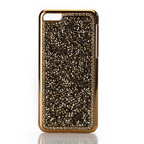 Luxury Fashion Chrome Crystal Diamond Case For Iphone 5C - Gold