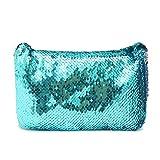 Bluelover Lentejuelas Espumosos Bolsa De Maquillaje Bolso Cinturón Glitter Monedero Bolso Comestic Caso # 4