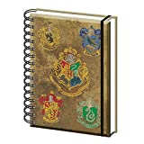 Véritable Harry Potter Poudlard Maison Crests A5 Wiro Journal Journal Bloc-notes Papier Bloc-Notes