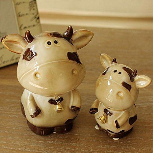 WYQLZ Cerámica Un par Bell Vacas Escultura Decoración