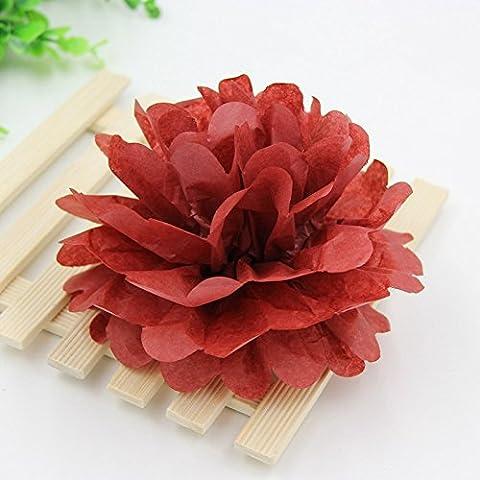 1pcs 10po (25cm) Hot Sale papier de soie Fleur Pompons Boules Baiser Accueil Décoration fête & Wedding