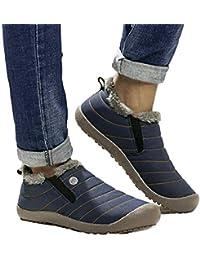 7df451878331 Yefree Männer Frauen Mode Baumwolle Schuhe Winter warme Anti-Rutsch-Gummi- Sohle Abriebfeste Wasserdichte Schnee Stiefel Outdoor-Mann…