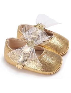 Xshuai Neugeborenes Baby Mädchen Elegantes Bowknot Schuhe Weiche Sole Krippe Kleinkind Anti-Rutsch Nette Sterne