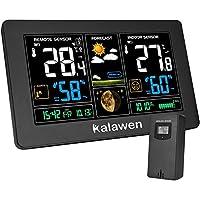 Perfetto Compagno per la Vita Quatidiana Kalawen stazione meteo con allarme mostra la temperatura e l'umidità delle successive 12-24 ore, in modo che può preparare per il cattivo tempo. E può prendere misure tempestive per prevenire l'aumento di muff...
