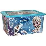 ColorBaby - Caja ordenación 35 litros, diseño frozen (76618)