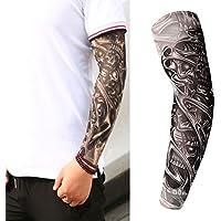 osmanthusFrag Stretchy UV Schutz Gefälschte Slip On Tattoo Arm Sleeve Unisex für Radfahren im Freien