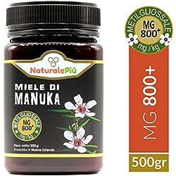 Miel de Manuka 800+ MGO 500 gr | Produit en Nouvelle-Zélande. Actif et brut, 100 % pur et naturel | Méthylglyoxal testé |
