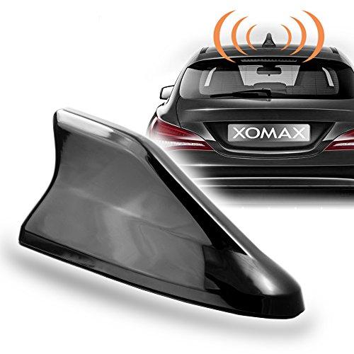 XOMAX XM-DAT04 Haifisch Auto Kombi-Antenne für GPS, DAB, DAB+, AM, FM Empfang, inkl. ca. 4m Verlängerungskabel (Xm-radio-antenne)