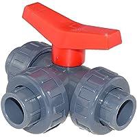 CH PVC Kugelhahn 3 Wege L-bohrung 40 mm