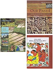 NCERT Book Set For Class 6 - History, Geography & Social And Political Life (English) (Set of 3 Bo