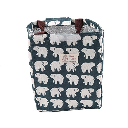 odn-cute-reusable-waterproof-canvas-lunch-bag-insulated-lunch-tote-soft-bento-cooler-bag-polar-bear