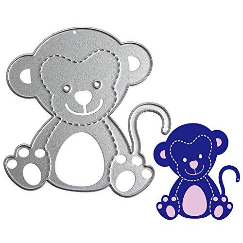 logres Cute Monkey Formen Schablonen DIY Scrapbook Album Papier Karte Prägung Craft