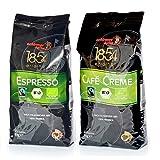 Schirmer Kaffee - Espresso 1kg + Cafe Creme 1kg - Transfair Bio Fairtrade Fairgehandelter Kaffee Ganze Bohnen