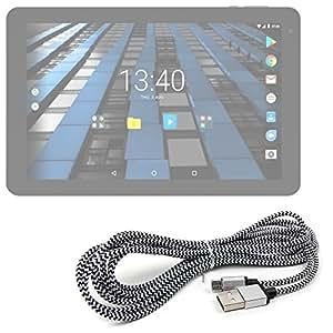 DURAGADGET Cavo micro USB in nylon – Carica rapida – Compatibile con tablet Archos Diamond Tab (2017) | Artizlee ATL-31 | Asus T101HA / ZenPad 10 (Z300M-A2-GR) / ZenPad 8.0 (Z380M) / Transformer Mini T102HA / Transformer Book T101HA-GR003T / Transformer Book T101HA-GR043T / Transformer Mini T102HA / Transformer Book T102HA – 3 Metri