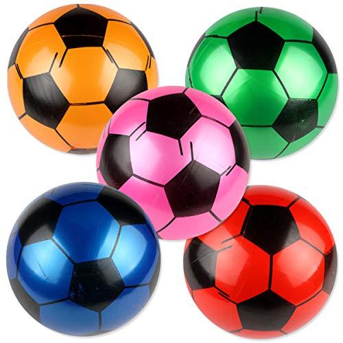 er Fußball PVC Beach Ball Sandspielzeug Kinder Spielzeug 9 Zoll 5 Stück (Zufällige Farbe) ()