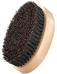 Plemo Cepillo para Barba, Pelo de Jabalí Peine de Pelo Facial para Estilizar y Mantener el Bigote, Forma Óvalo