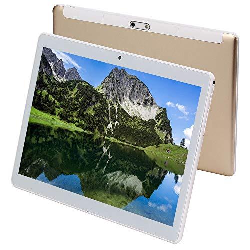 Tablette 10 Zoll Android 9.0 3G Telefon Tablets mit 64 GB Speicher Dual SIM Karte 5MP Kamera, WiFi, Bluetooth, GPS, Octa Core, HD Touchscreen, Unterstützung 3G Telefonanruf (Gold)