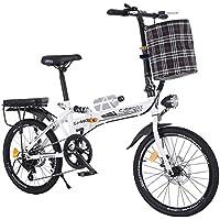 LETFF Bicicleta Plegable para Adultos Bicicleta de 20 Pulgadas para Hombres y Mujeres(White)