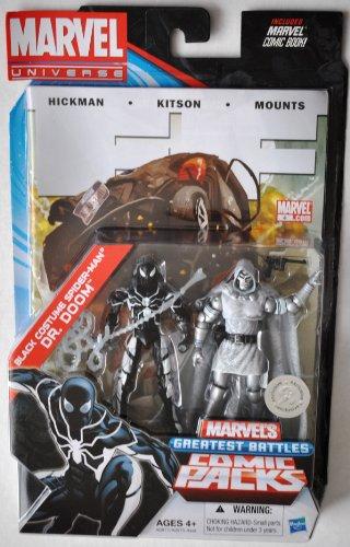 c Packungen 33/10,2cm schwarz Kostüm Spider-Man & DR DOOM (Comic Marvel Kostüme)