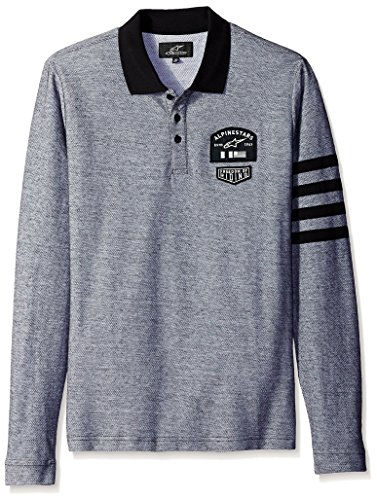 Alpine Stars Everest Long Sleeved Polo Shirt Heather Gray