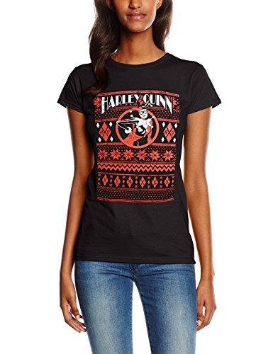 CID HARLEY QUINN - FAIR ISLE-T-shirt  Donna    nero 48