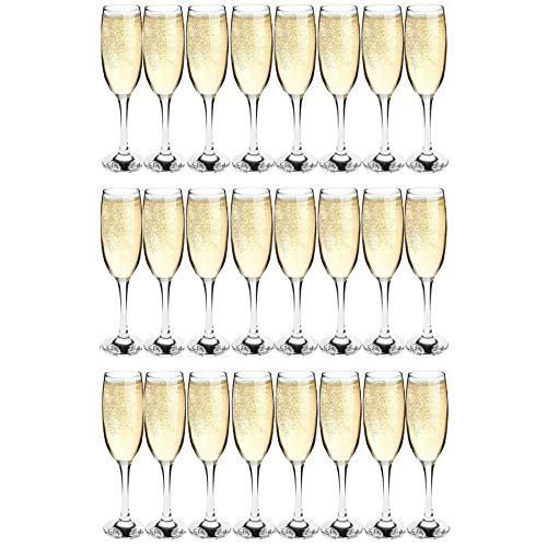 Flûtes à champagne - Lot de 24 verres - 220 ml