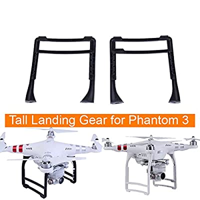 Fascinated Drone Accessory High Extended Tall Landing Gear Skid for DJI Phantom 3 Professional Advanced Standard