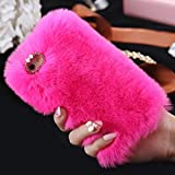 LAPOPNUT Coque iPhone 7 Plus iPhone 8 Plus Fourrure Mignon Élégant Fausse Lapin...