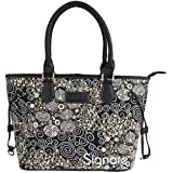 Signare Womens Tapestry Fashion Tote Shoulder Bag In Gustav Klimt Kiss Design