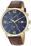 Tommy Hilfiger Herren Multi Zifferblatt Quarz Uhr mit Leder Armband 1710359