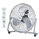 "Ecolighters Cooling Floor Fan - 18"" High Velocity Metal, Industrial Fan with 3"