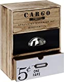 Cargo Kleiner Schrank Vintage Schubladen Schränkchen Mini Kommode 30,1x22,6x12,2 cm Holz 3 Schubfächer mit Metallgriffen
