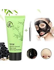 Blackmaske, Y.F.M Bambuskohle Mitesser Maske Reinigungsmaske Tiefenreinigende Akne Entferner Peel Off Schwarz Maske