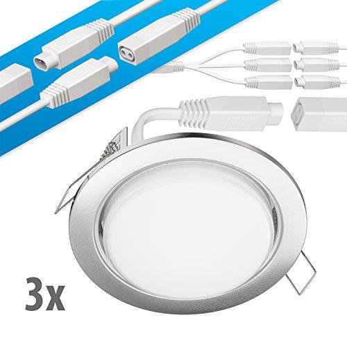 ledscom.de LED Foco empotrable en el Techo Ruba crómico Mate GX53 6,3W...